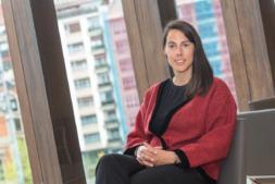 Gisela Varias, en Baluarte, durante el Fórum Fundaciones. (Fotos: Víctor Rodrigo)