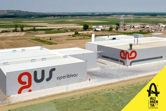 """Vista aérea de las instalaciones de Grupo APEX, premio Alimenta Navarra 2017 al """"Desarrollo Empresarial""""."""
