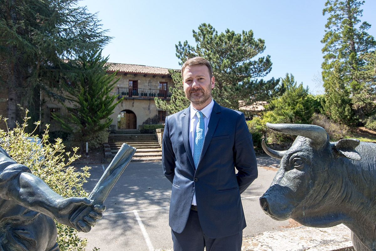 Imagen del nuevo director del Hotel El Toro, Joseba Fagoaga. Fotos: Víctor Rodrigo