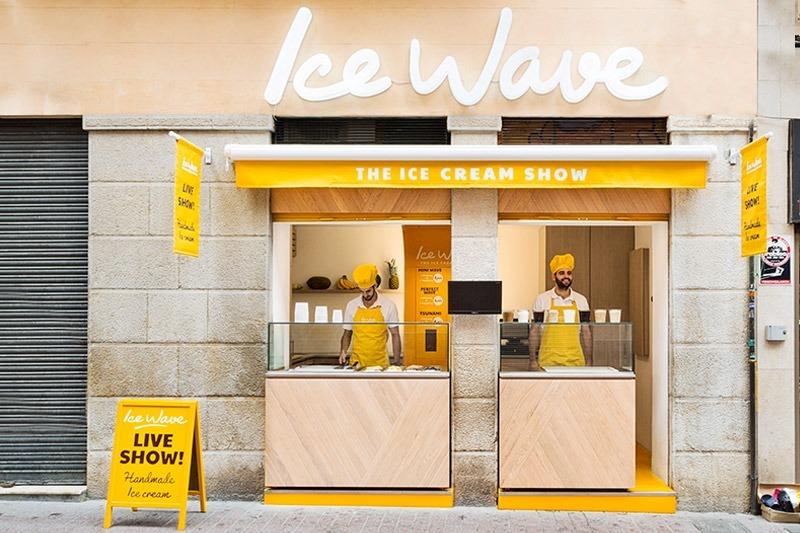 Primera heladería de Ice Wave, situada en Palma de Mallorca.