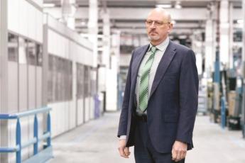 Ignacio Razkin, director general de Kgroup, en las instalaciones de la empresa en Pamplona.