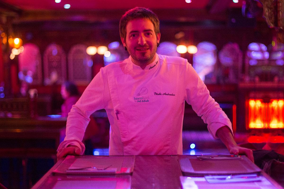 El chef Iñaki Andradas, asesor gastronómico de Indara Club.
