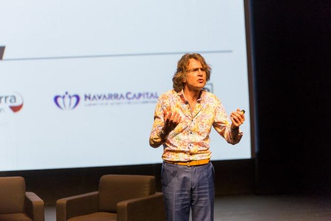 Gijs Van Wulfen durante su ponencia. Fotos: Víctor Rodrigo