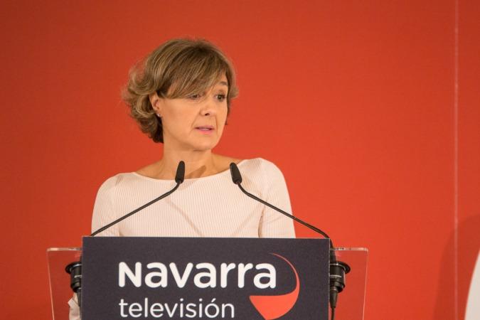 Un momento de la intervención esta mañana de la ministra Tejerina en el 'Foro NaTV' (FOTO: Victor Rodrígo).