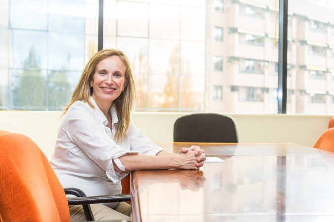 Izaskun Goñi, directora general de Política Económica, Empresarial y Trabajo en su despacho.