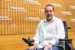Javier Miranda en el auditorio de Civican. (FOTOS: VÍCTOR RODRIGO)