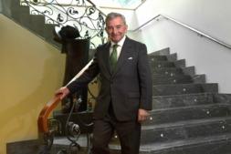 Javier Vega de Seoane, en la sede de la Confederación de Empresarios de Navarra.
