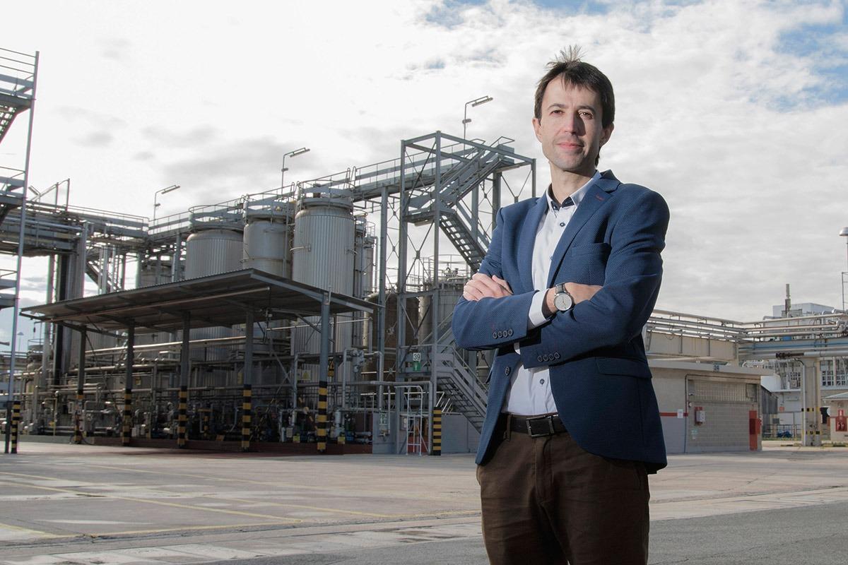 José Ignacio García de Albizu, en las instalaciones de la fábrica de Echavacoiz.