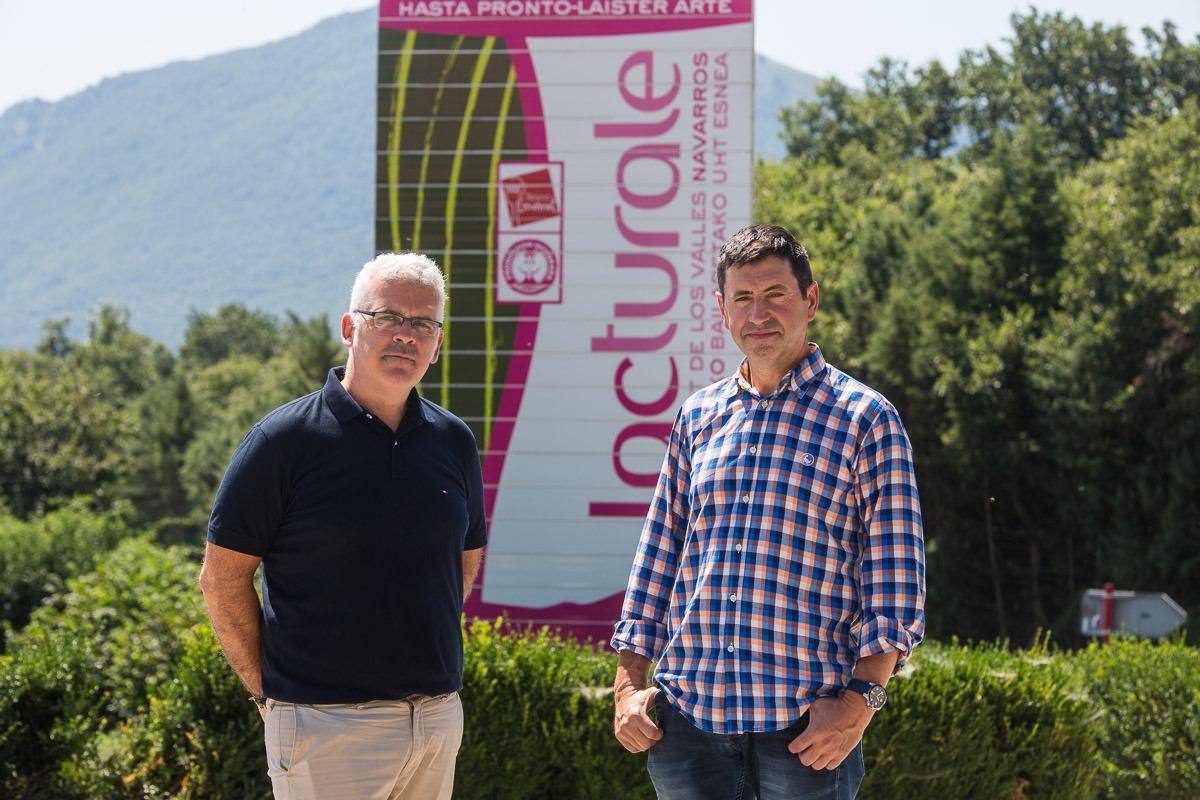 Iñaki Redín, nuevo CEO de Lacturale; y Juanma Garro, presidente.