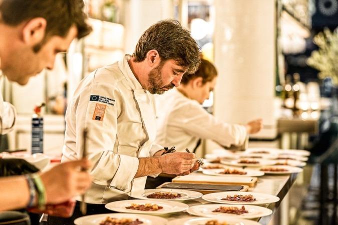 El chef Fernando del Cerro, durante la presentación de este producto en Madrid Fusión.