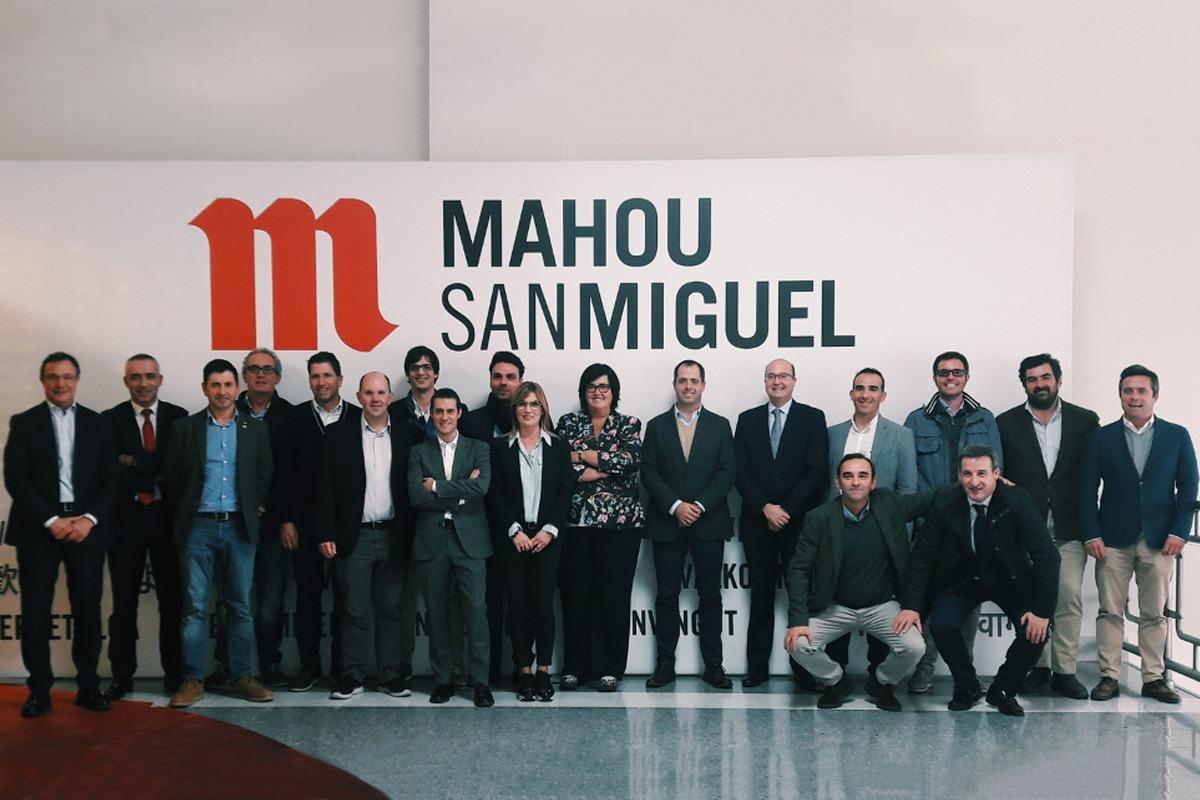 Empresas participantes durante la visita a Mahou San Miguel.