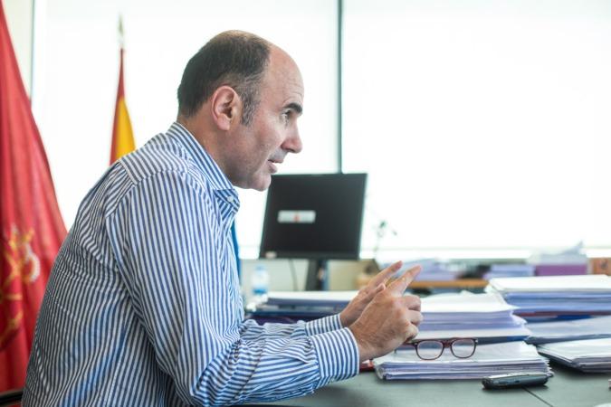Manu Ayerdi, vicepresidente de Desarrollo Económico del Gobierno de Navarra.