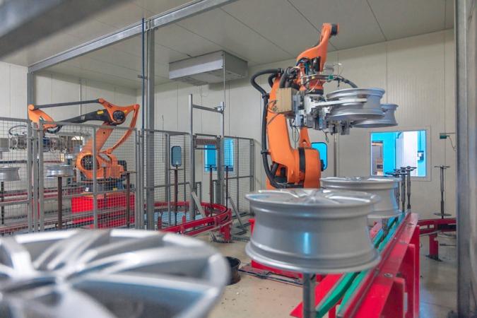 Cadena de fabricación industrial de Mapsa en Orkoien.