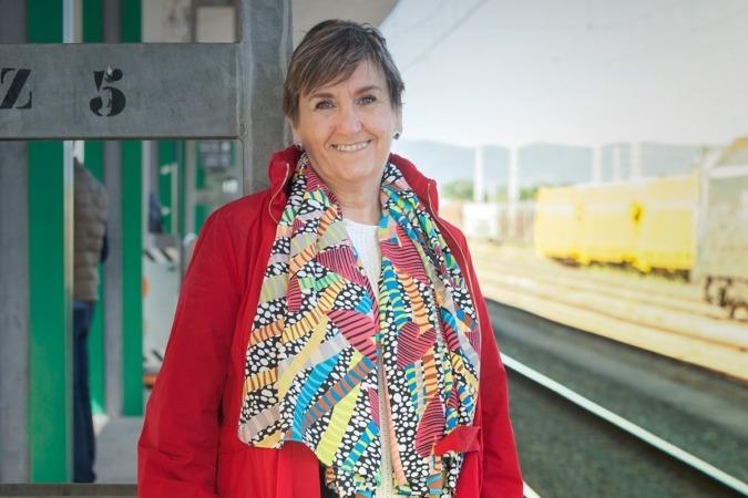 Marisa de Simón, candidata de Izquierda-Ezkerra a la presidencia del Gobierno de Navarra. (Fotos: Estudio Pujol)