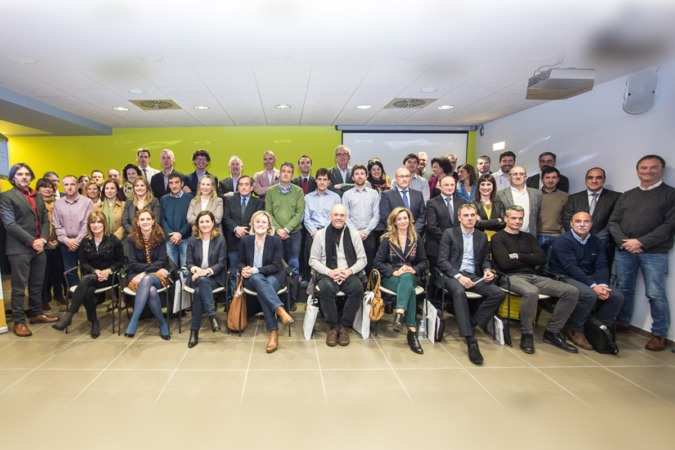 Los representantes de las empresas integradas en el Clúster Agroalimentario de Navarra.
