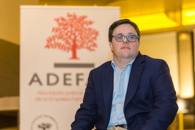 Imagen de Pablo Pineda tras su reciente participación en la última Asamblea General de ADEFAN. (FOTOS: Víctor Rodrígo).