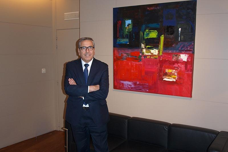 El presidente del ICO, José Carlos García de Quevedo, en una reciente visita a Cámara Navarra.