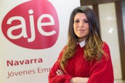 Raquel Trincado, nueva gerente de la Asociación de Jóvenes Empresarios - AJE Navarra. (FOTO: Víctor Rodrígo).