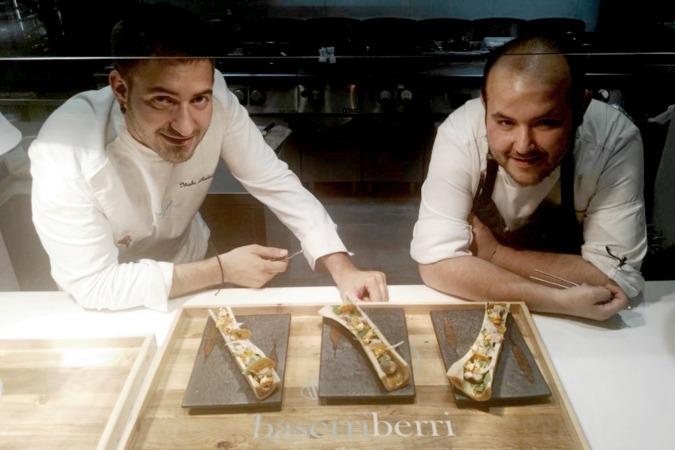 Iñaki Andradas y Luken Vigo, ganadores de la XXI Semana del Pincho de Navarra.