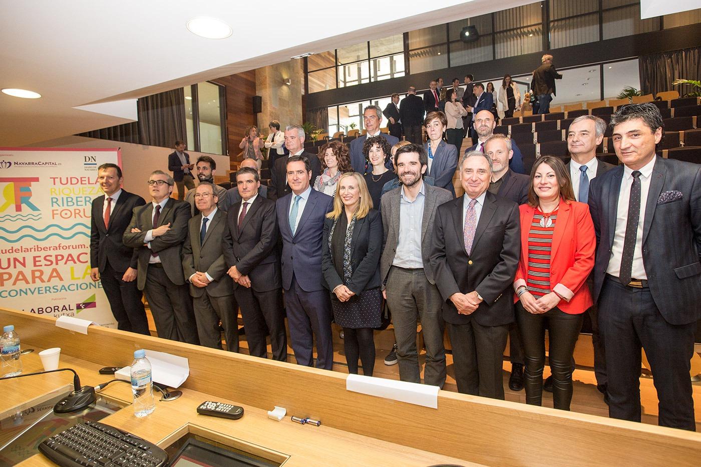 Los ponentes de el Tudela Ribera Forum de 2018. (Fotos: Víctor Rodrígo)