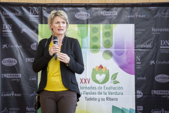 Maitena Ezkutari durante su intervención de ayer.