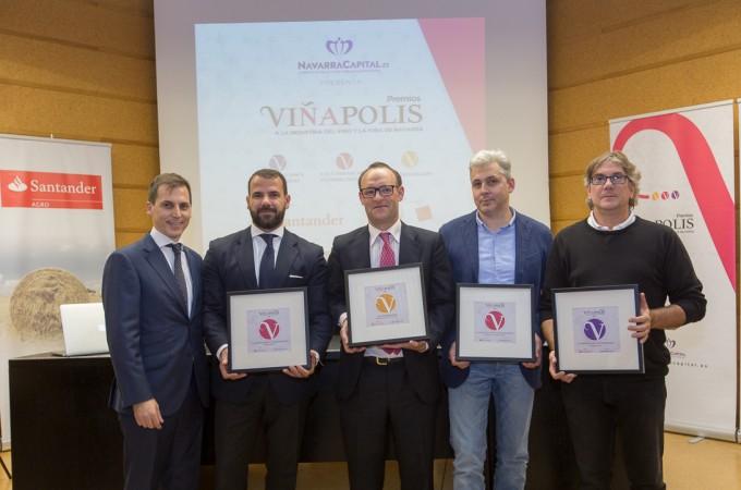 """Bodegas Aroa, Otazu, Alzania y Pago de Larrainzar recogen los """"II Premios Viñapolis"""""""