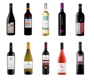 Los diez vinos navarros reconocidos con este galardón.