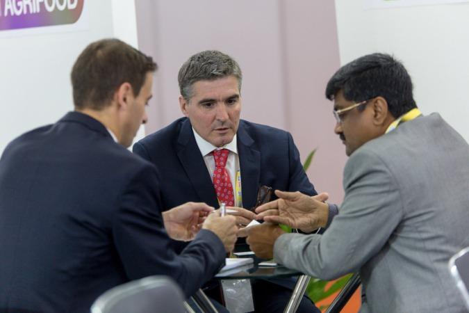 Benito Jiménez, director general de Congelados de Navarra, durante un encuentro en India el pasado mes de noviembre.