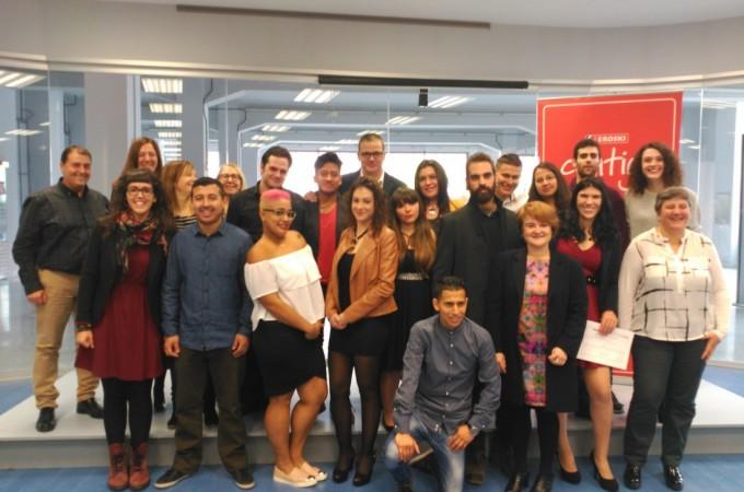 EROSKI apoya la empleabilidad de 15 jóvenes de Pamplona y Comarca