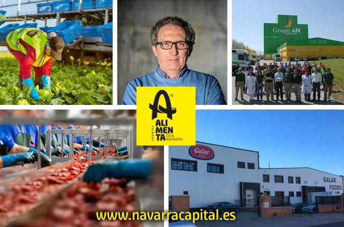 Florette, Conservas Pedro Luis, Galar Foods, AN y José Pedro Salcedo Herce, I Premios 'Alimenta Navarra 2016′