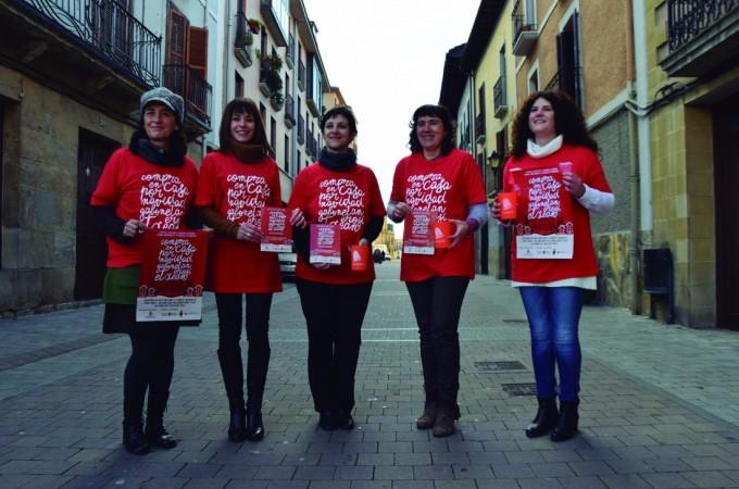 """Comerciantes de Burlada promueven la """"compra en casa por Navidad"""""""