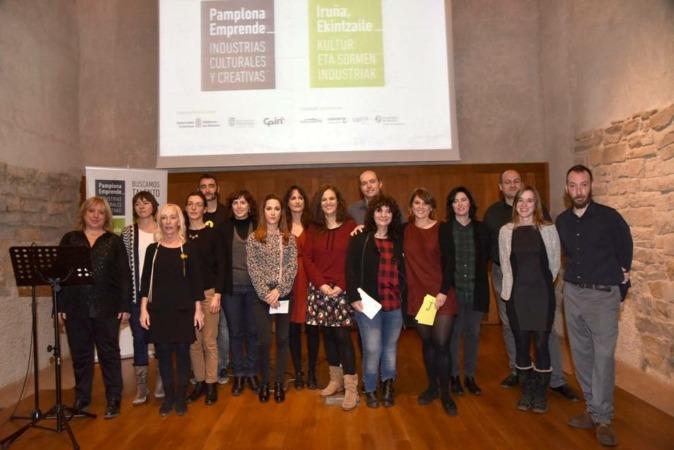 Foto de Familia de los participantes en el programa Pamplona Emprende.