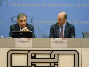 José Antonio Sarría (presidente CEN) y Manu Ayerdi, vicepresidente Desarrollo Económico