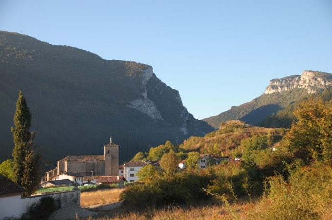 Panorámica del Pirineo Navarro cerca de Burgui