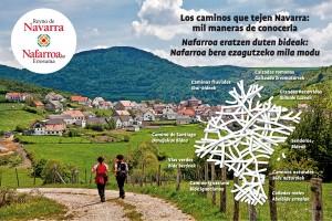 Cartel Senderos y Caminos Navarra FITUR 2017
