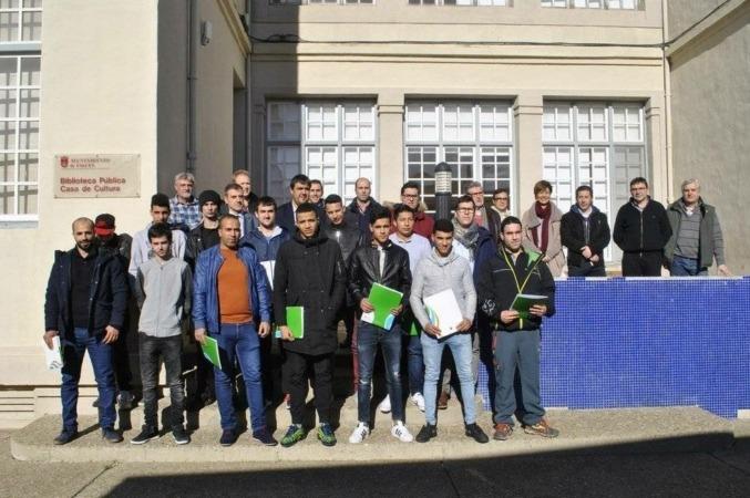Alumnos participantes en la primera escuela taller de Ribera Alta.