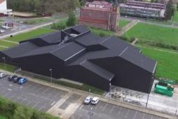 Vista aérea de Lozy's Pharmaceutical en Lekaroz.