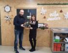 Sandúa dona aceite al comedor 'Villa Javier' de Tudela