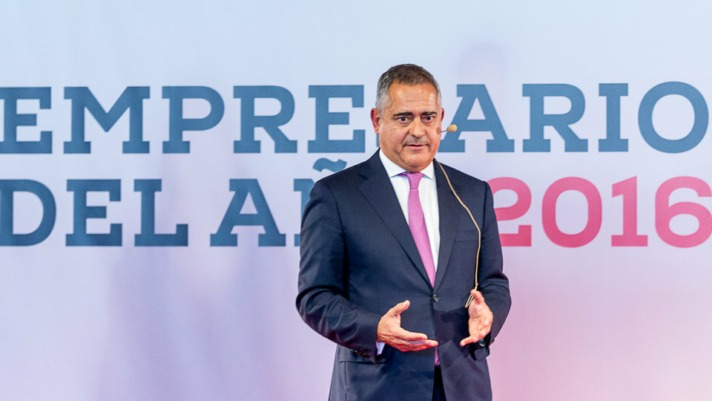 Juan Miguel Sucunza, presidente de Azkoyen, Premio Empresario del Año 2016. IÑIGO ALZUGARAY