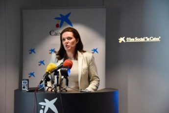 Ana Díez Fontana, directora territorial de CaixaBank en Navarra.