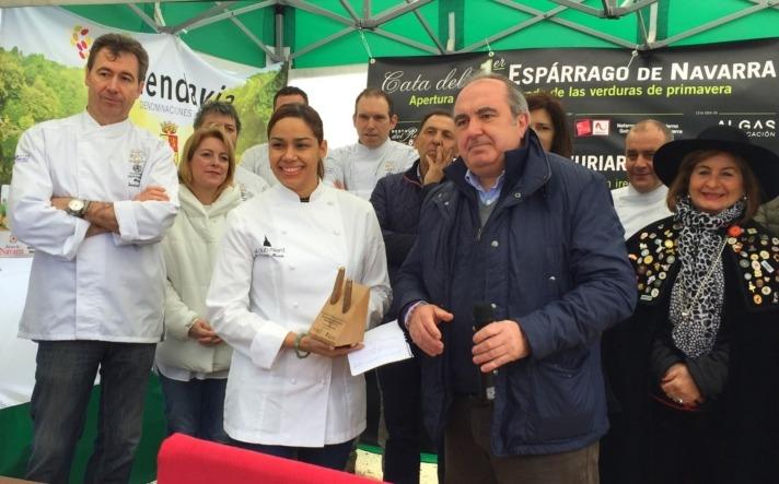 La cocinera María Marte fue la 'gran protagonista' en la apertura de la Campaña del Espárrago y la Alcachofa 2017.