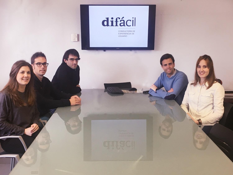 Equipo Difácil María Salsamendi, Javier Pérez de Zabalza, Ibán Echandi, Gonzalo Montes y Gabriela Bronte