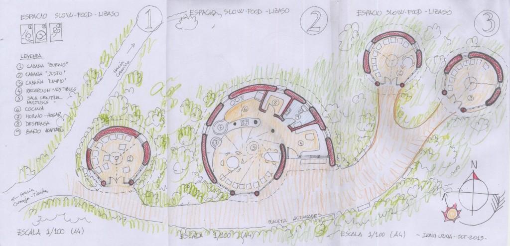 Croquis que refleja cómo será el futuro Proyecto Caracol y sus áreas de trabajo