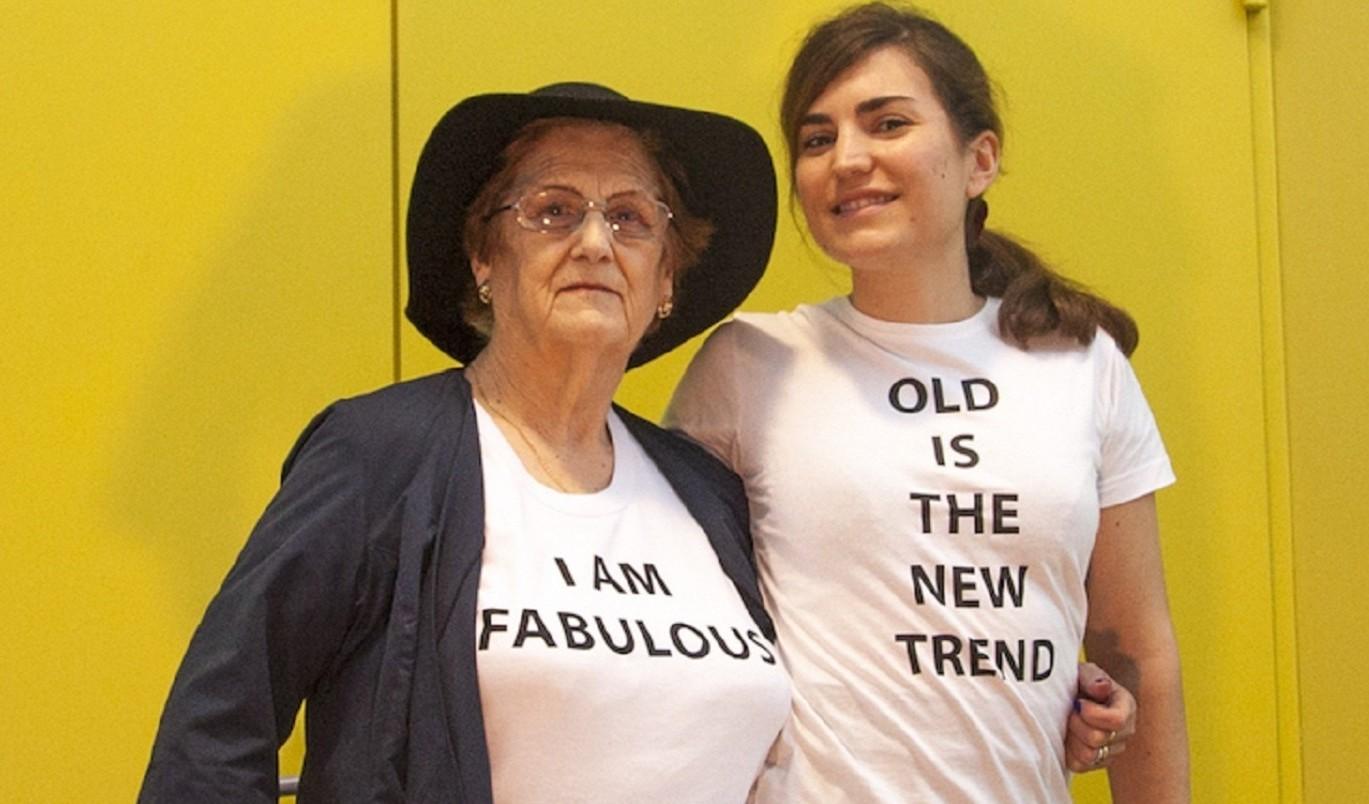 Rosario, la modelo y Ana Delia, la autora del proyecto DELIAH