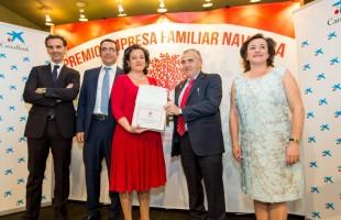 Hijos de Pablo Esparza, II Premio Empresa Familiar Navarra de ADEFAN