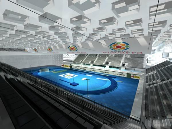 Imagen interior del Navarra Arena, gestionado por la sociedad pública NICDO, abrirá sus puertas este septiembre.
