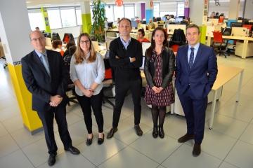 Carlos Fernández Valdivielso, Carolina Barceló, Diego Cenzano, Nerea Corera y Javier Iradiel. FOTOGRAFÍAS: MIGUEL SUÁREZ y VICTOR RODRÍGO.