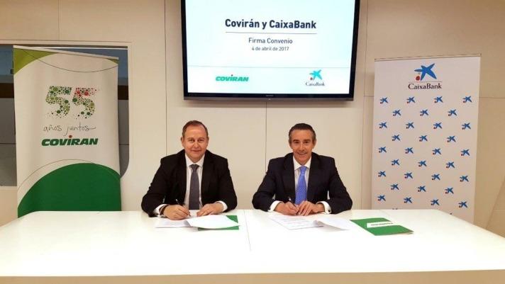 Firma Acuerdo Coviran y CaixaBank