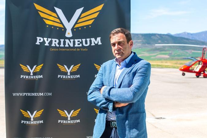 Imagen del director de Pyrineum, Pedro Santurde (FOTO: Víctor Rodrígo)
