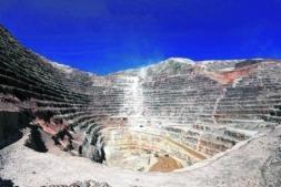 Imagen de una explotación minera al aire libre en Argentina